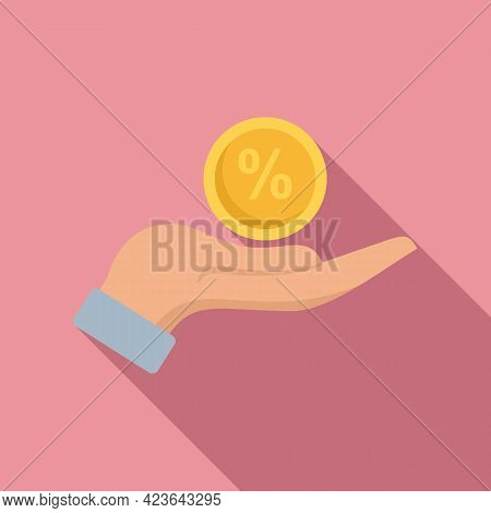 Bonus Percent Icon. Flat Illustration Of Bonus Percent Vector Icon For Web Design