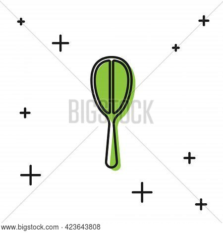 Black Kitchen Whisk Icon Isolated On White Background. Cooking Utensil, Egg Beater. Cutlery Sign. Fo