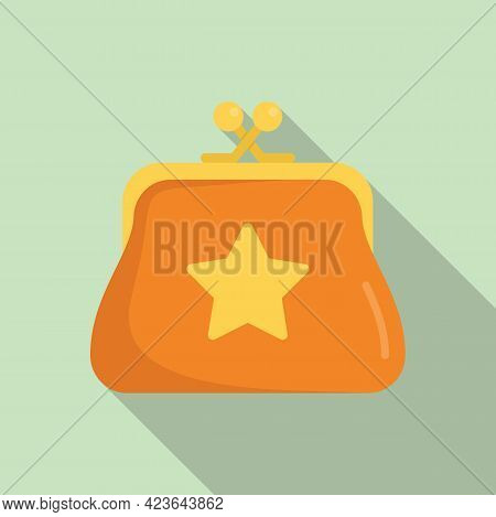 Sale Bonus Wallet Icon. Flat Illustration Of Sale Bonus Wallet Vector Icon For Web Design