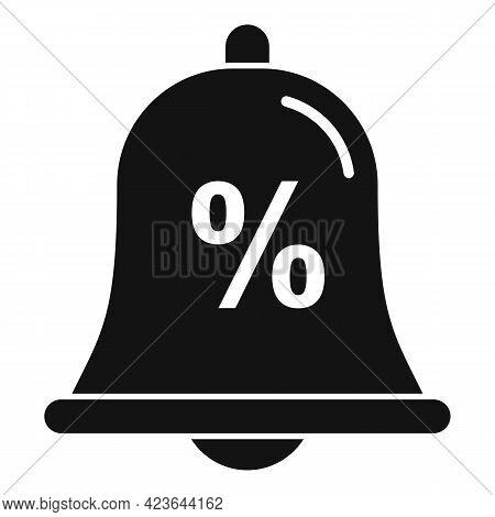 Bonus Bell Icon. Simple Illustration Of Bonus Bell Vector Icon For Web Design Isolated On White Back