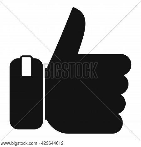 Bonus Thumb Up Icon. Simple Illustration Of Bonus Thumb Up Vector Icon For Web Design Isolated On Wh