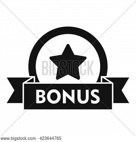 Bonus Coin Icon. Simple Illustration Of Bonus Coin Vector Icon For Web Design Isolated On White Back