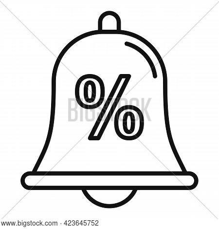 Bonus Bell Icon. Outline Bonus Bell Vector Icon For Web Design Isolated On White Background