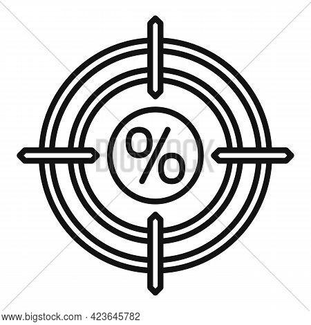 Bonus Target Icon. Outline Bonus Target Vector Icon For Web Design Isolated On White Background