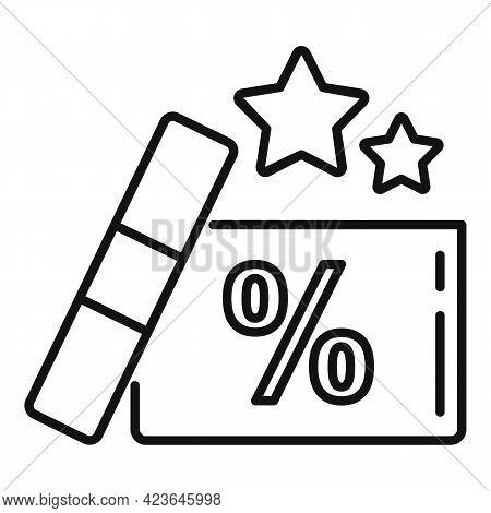 Bonus Gift Box Icon. Outline Bonus Gift Box Vector Icon For Web Design Isolated On White Background