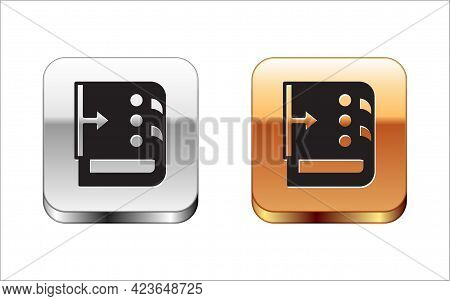 Black Sound Mixer Controller Icon Isolated On White Background. Dj Equipment Slider Buttons. Mixing
