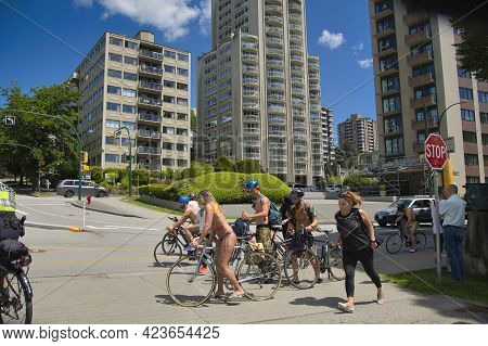 The World Naked Bike Ride Took Over Vancouver. Bc Canada June 12th, 2021