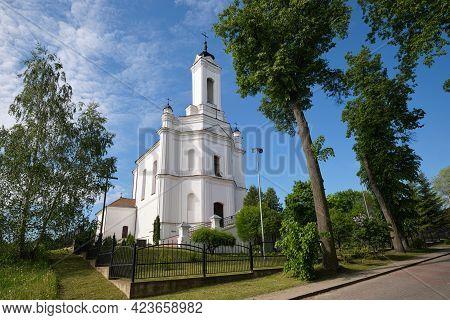 Ancient Catholic Church Of The Blessed Virgin Mary Nativity At Summer, Zaslavl, Minsk Region, Belaru