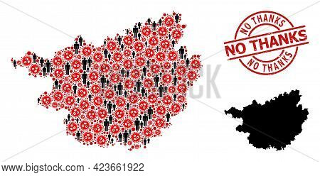 Mosaic Map Of Guangxi Zhuang Region Constructed From Virus Icons And Population Icons. No Thanks Tex