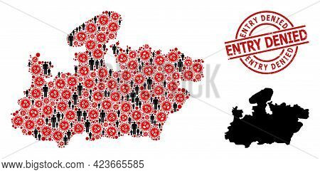 Mosaic Map Of Madhya Pradesh State Constructed From Sars Virus Items And Demographics Items. Entry D