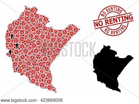 Mosaic Map Of Podkarpackie Province Designed From Flu Virus Icons And People Icons. No Renting Textu