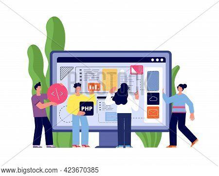 Web App Developers. Web Illustrations Developer, Website Interface Development. People Hold Software
