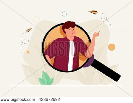 Finding Talent With Best Unique And Professional Skills Tiny Person Concept. Hr Agency Work With Top