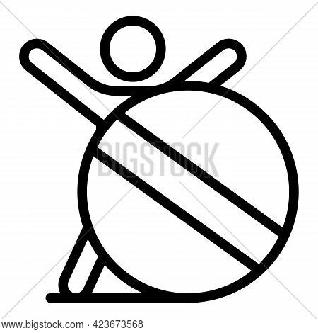 Antidepressant Round Pill Icon. Outline Antidepressant Round Pill Vector Icon For Web Design Isolate