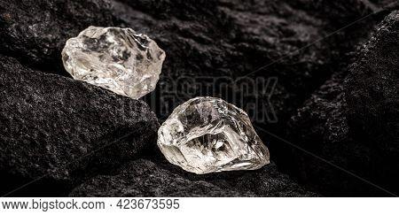 Quartz Gemstone, Semi Precious Gem In Mine, Jewelry Escaping Concept