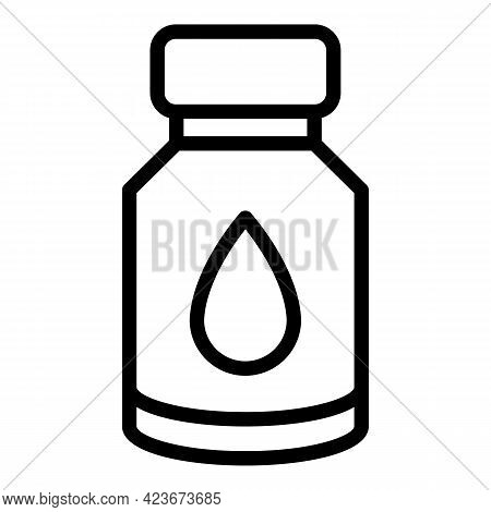 Antidepressant Drops Icon. Outline Antidepressant Drops Vector Icon For Web Design Isolated On White
