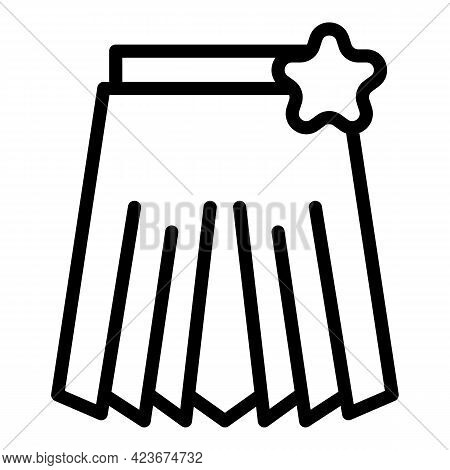 Perfectionism Skirt Icon. Outline Perfectionism Skirt Vector Icon For Web Design Isolated On White B