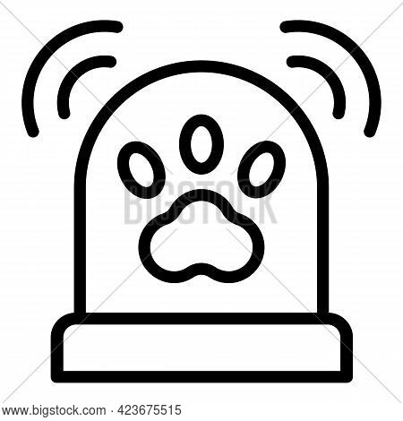 Veterinary Clinic Ambulance Icon. Outline Veterinary Clinic Ambulance Vector Icon For Web Design Iso