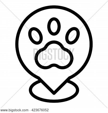 Veterinary Clinic Location Icon. Outline Veterinary Clinic Location Vector Icon For Web Design Isola