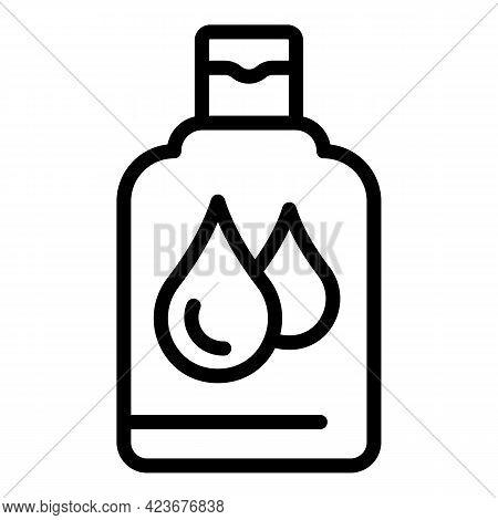 Hair Shampoo Bottle Icon. Outline Hair Shampoo Bottle Vector Icon For Web Design Isolated On White B