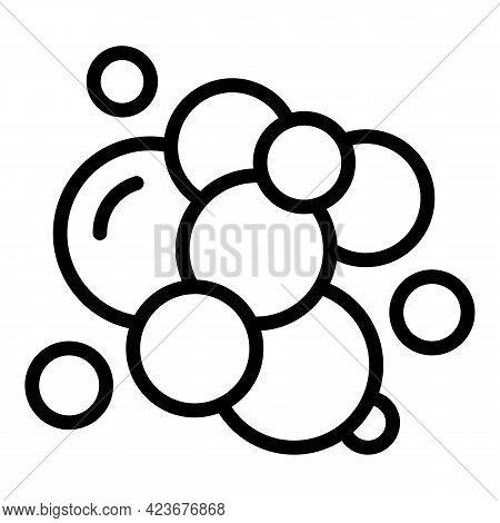 Hair Shampoo Foam Icon. Outline Hair Shampoo Foam Vector Icon For Web Design Isolated On White Backg