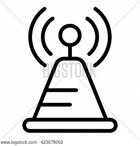 Radio Tower Internet Icon. Outline Radio Tower Internet Vector Icon For Web Design Isolated On White