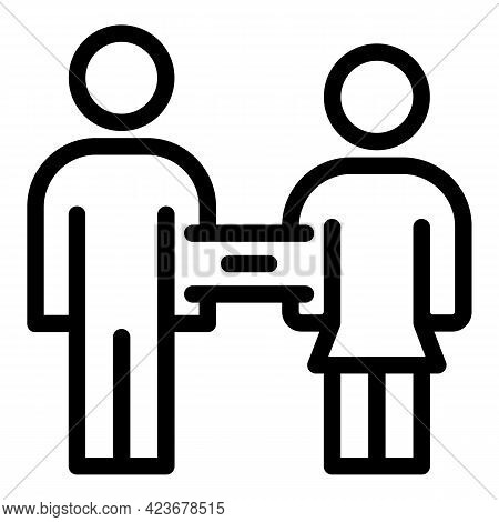Gender Identity Couple Icon. Outline Gender Identity Couple Vector Icon For Web Design Isolated On W