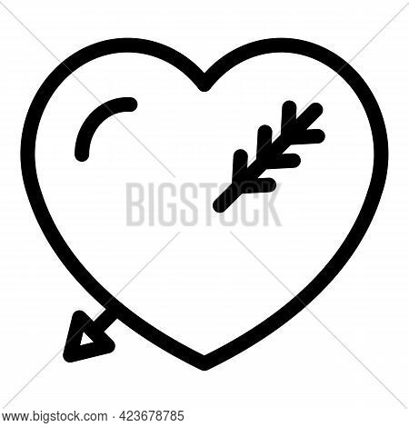 Gender Identity Heart Icon. Outline Gender Identity Heart Vector Icon For Web Design Isolated On Whi