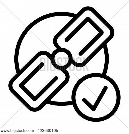 Satellite Search Engine Icon. Outline Satellite Search Engine Vector Icon For Web Design Isolated On