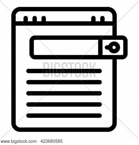 Location Search Engine Icon. Outline Location Search Engine Vector Icon For Web Design Isolated On W