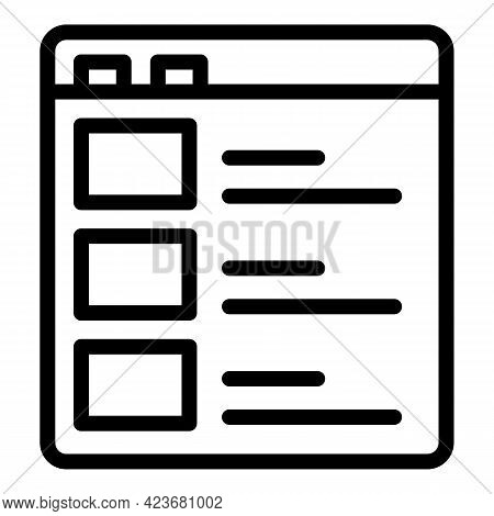 Marketing Search Engine Icon. Outline Marketing Search Engine Vector Icon For Web Design Isolated On