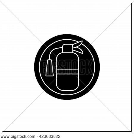 Fire Extinguisher Symbol Glyph Icon. Fire Prevention And Recovery. Public Place Navigation. Universa