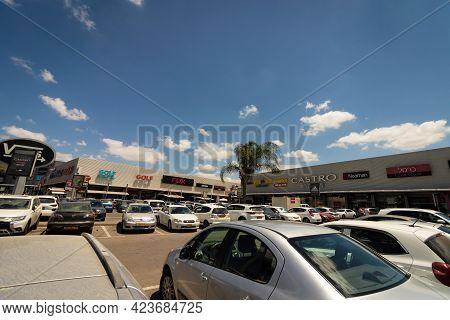 23-05-2021. Kiryat-ekron - Israel. Vehicles Parked In The Ofer Mall At Bilu Junction,