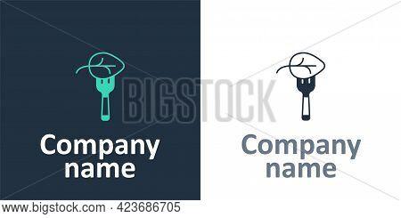 Logotype Vegan Food Diet Icon Isolated Logotype Background. Organic, Bio, Eco Symbol. Vegan, No Meat