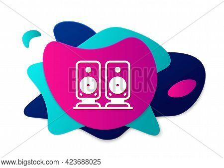 Color Stereo Speaker Icon Isolated On White Background. Sound System Speakers. Music Icon. Musical C