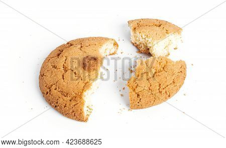 Coconut Americano Cookies Isolated On A White Background.