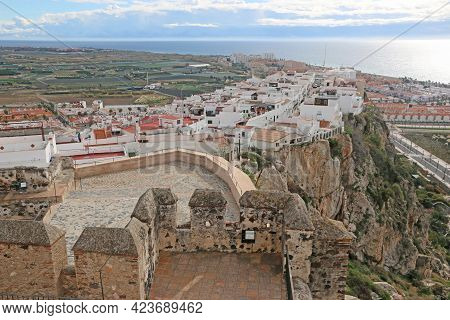 Salobrena Castle And Town , In Andalucia, Spain