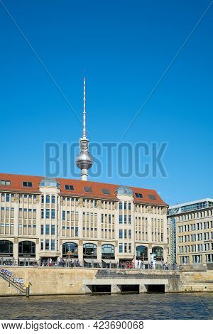 Berlin, Germany - May 31, 2020: City View Of Berlin With Television Tower In Background Seen From Sp