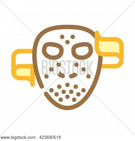 Mask Fear Color Icon Vector. Mask Fear Sign. Isolated Symbol Illustration
