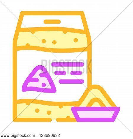 Nut Flour Gluten Free Color Icon Vector. Nut Flour Gluten Free Sign. Isolated Symbol Illustration