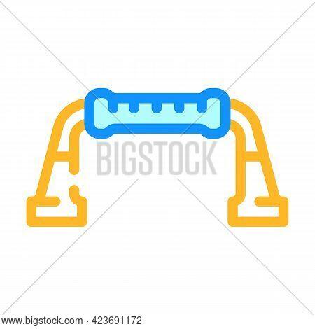 Push-ups Gym Equipment Color Icon Vector. Push-ups Gym Equipment Sign. Isolated Symbol Illustration
