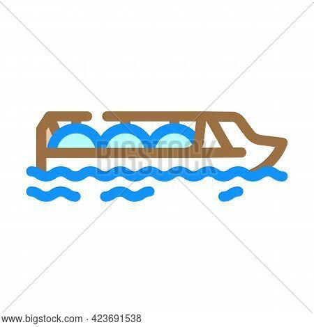 Gas Hydrogen Carrier Ship Color Icon Vector. Gas Hydrogen Carrier Ship Sign. Isolated Symbol Illustr