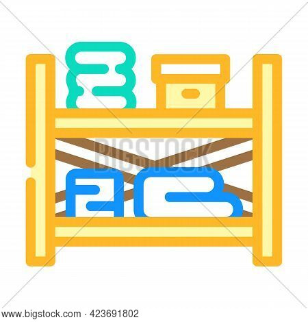 Storaging Design Shelves Color Icon Vector. Storaging Design Shelves Sign. Isolated Symbol Illustrat