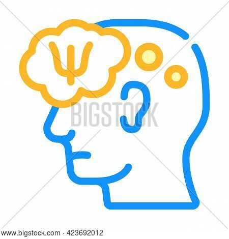 Patient Thinking About Doctor Help Color Icon Vector. Patient Thinking About Doctor Help Sign. Isola