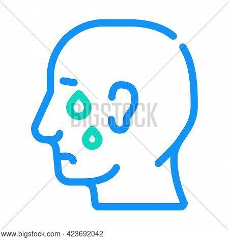 Depression Problem Color Icon Vector. Depression Problem Sign. Isolated Symbol Illustration