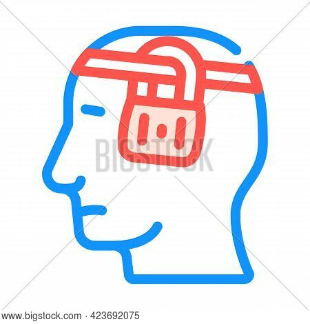 Buried Thoughts Neurosis Color Icon Vector. Buried Thoughts Neurosis Sign. Isolated Symbol Illustrat