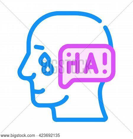 Ambivalence Neurosis, Sharp Mood Swings Color Icon Vector. Ambivalence Neurosis, Sharp Mood Swings S