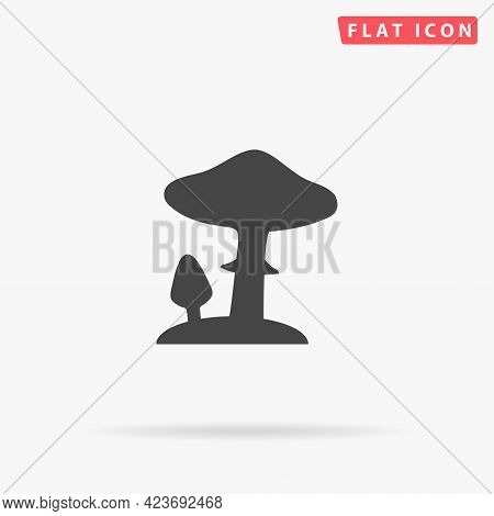 Toadstool Mushrooms Flat Vector Icon. Hand Drawn Style Design Illustrations.