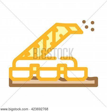 Sod Peat Collector Machine Color Icon Vector. Sod Peat Collector Machine Sign. Isolated Symbol Illus