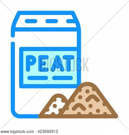 Bag Of Peat Color Icon Vector. Bag Of Peat Sign. Isolated Symbol Illustration